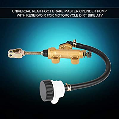 Universal Rear Foot Brake Master Cylinder Pump with Reservoir for Motorcycle Dirt Bike ATV