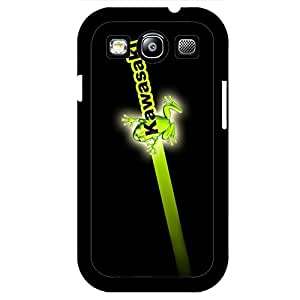 Black Popular Green Logo Kawasaki Phone Case Skin for Samsung Galaxy S3 I9300