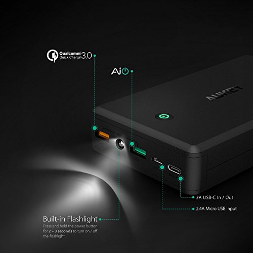AUKEY 30000mAh USB C convenient Charger by wil of  short bill 30 strength Bank 3 USB Outputs Battery Pack for Nintendo Switch iPhone 8 7 Plus and additional around Chargers