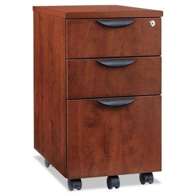 Alera Cherry File Cabinet (Alera ALEVA572816MC Valencia Mobile B/B/F Pedestal File, 15 7/8 x 20 1/2 x 28 3/8, Med Cherry)