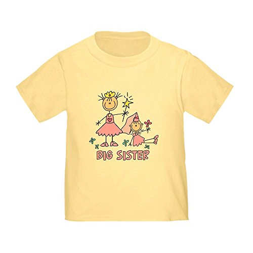Stick Princess Duo - CafePress Stick Princess Duo Big Sister Toddler Tee Cute Toddler T-Shirt, 100% Cotton Daffodil Yellow