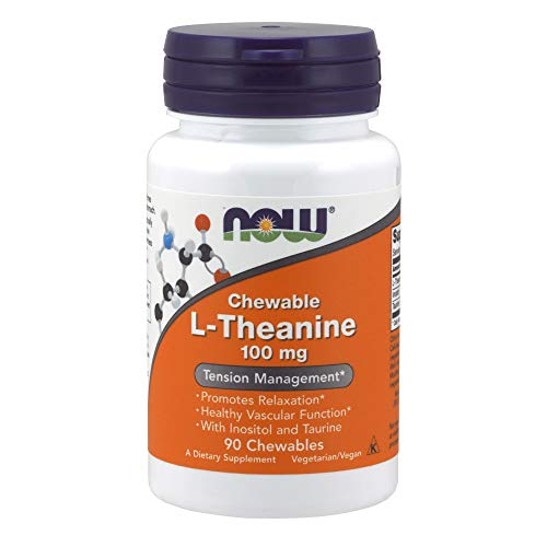 - NOW® L-Theanine, 100 mg, 90 Chewables