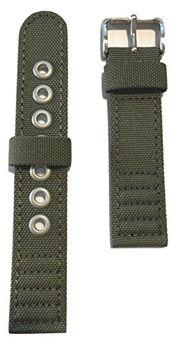 Original Citizen Men's 20mm Green Canvas Cloth Strap Band for Watch Model AT0200-05E