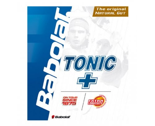 Gut Natural 15l - Babolat Tonic Plus Longevity 15L-Gauge Tennis String (Natural)
