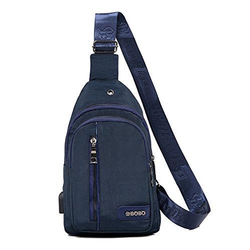 casual borsa Blu con uomo di Borsa tela in Oxford a blu da e singola tracolla tracolla w6qzqTxRa