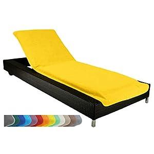 Brandsseller Housse de Protection pour Chaise Longue de Jardin de Plage en éponge 100% Coton Environ 75x200cm Couleur: Jaune