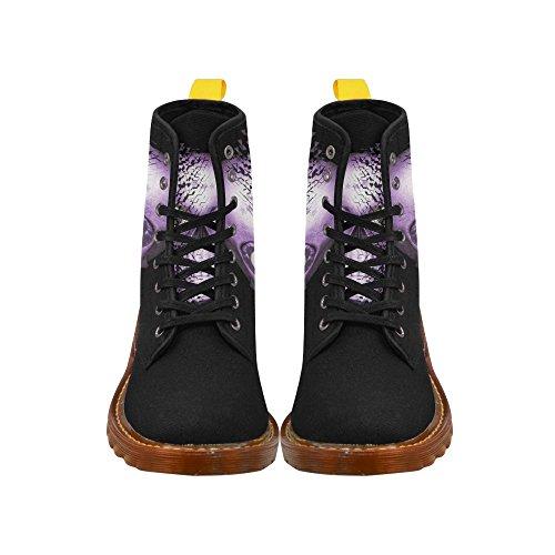 Leinterest Broken Skull, Lilac Martin Boots Fashion Shoes For Men