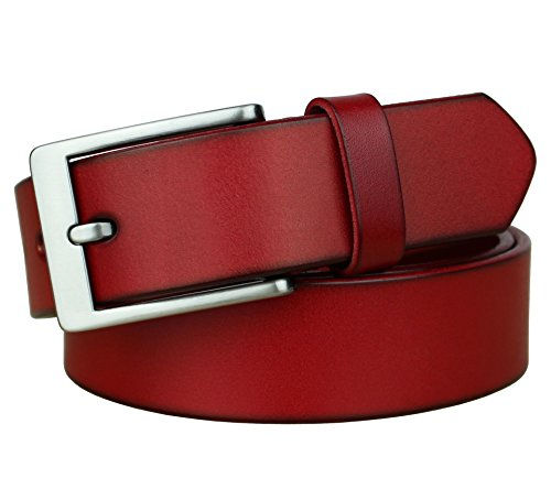 (Bullko Men's Dress Belt Casual Genuine Leather 1 1/4