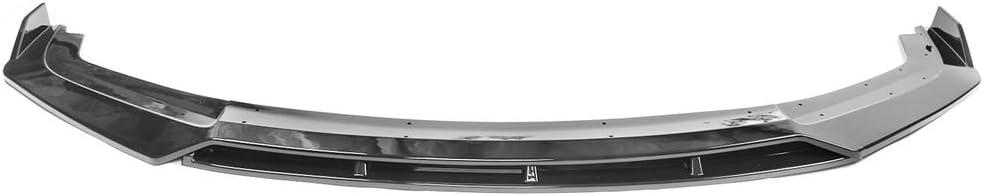 Front Bumper Lip Compatible With 2019-2020 Honda Civic V3 Style Gloss Black Front Lip Chin Spoiler 2PC IKON MOTORSPORTS