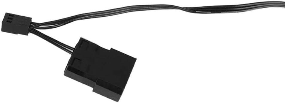 Tonysa Ventola di Raffreddamento FAN-L18 12V DC 120mm Ventola LED//Ventola di Raffreddamento Interfaccia Grande 4 Pin e Piccolo 3 Pin Blu