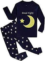 "Babylike ""Spacecraft Little Boys 2 Piece Pajama 100% Cotton(Size 2-9 Y"