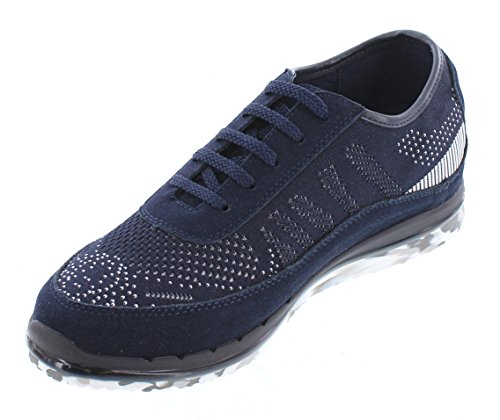 Toto D22034-2.4 Inches Taller - Hoogte Toenemende Liftschoenen - Donkerblauwe Mode Sneakers