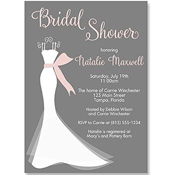 Amazon bridal shower invitations wedding shower invites bridal shower invitations wedding shower invites elegant gown gown gray pink filmwisefo