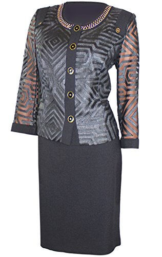Special Business Coupe (WOMENS BUSINESS SUIT-Tanya Leather Fil Coupe Skirt Suit, Dress Suits, Skirt Suit Set, Business, Work, Church Suit (46))