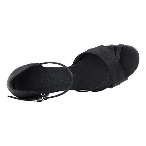 """50 Shades Of Black Tanzschuhe Sammlung I, Komfort Abendkleid Hochzeit Pumps: Frauen Ballroom Dance Schuhe für Latin, Tango, Salsa, Swing, Theater Kunst von Party-Party (2,5 """"& 3"""" Heels) 6030 - Schwarzer Satin"""