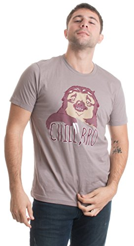 Chill, Bro Sloth   Cute, Funny Sloth Lover Lazy Kid Napping Unisex T-shirt-Adult,L