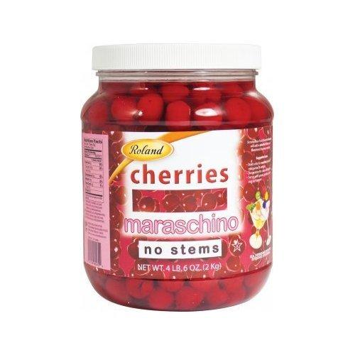 Roland Maraschino Cherries, No Stems, 4 lbs (Pack of 6)