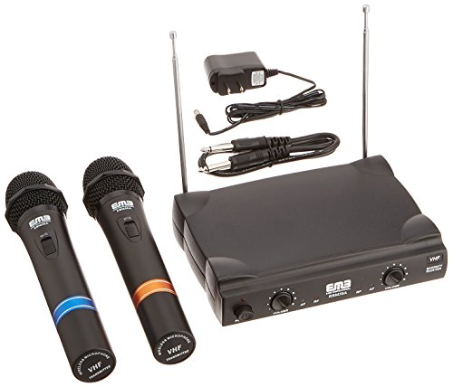 EMB VHF EBM50A Professional Dual Wireless Microphone System