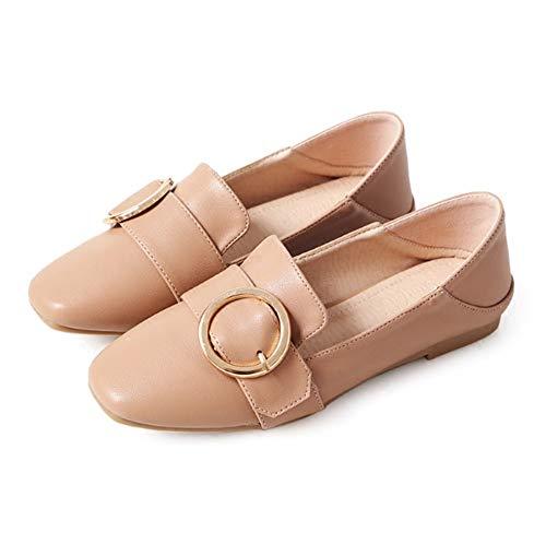 FLYRCX Los Zapatos Planos cómodos de la Manera Casual de Las señoras de los Zapatos de la Manera Ocasionales Solo Calzan los Zapatos de Trabajo, 36 UE 39 EU