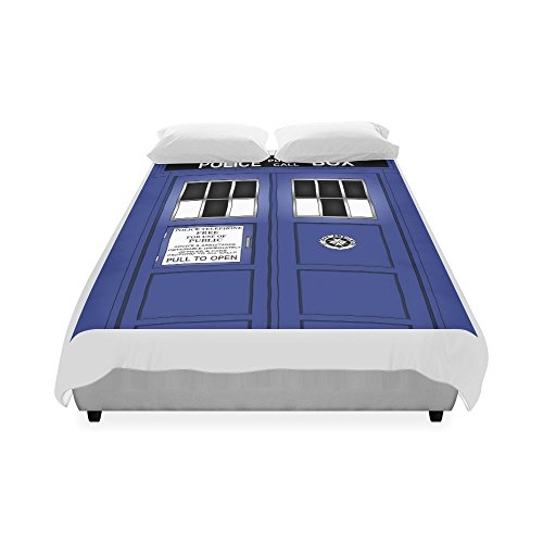 """Customize Police Box Fashion Duvet Cover 86"""" x 70""""(One Side Printed) DC-129 ,Good for all King Size,Queen Size,Double Size,Twin Size."""