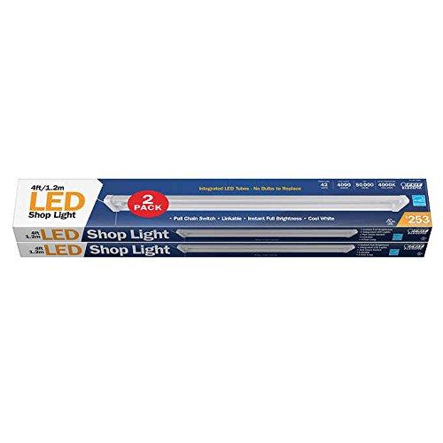 Led Shop Light Humming: Feit 4' Linkable LED Shop Light 2-pack
