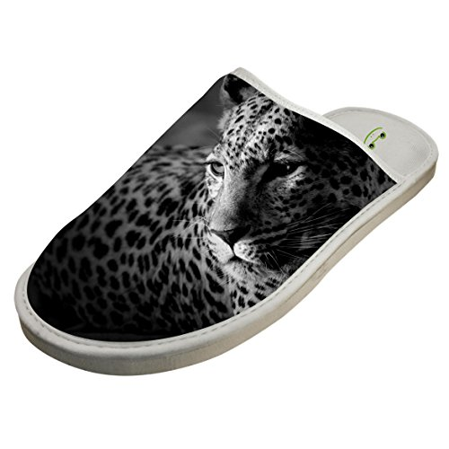 Winter Cotton Black And White Jaguar Antiskid House Slippers Baboosh Pontoufle by 4B854DF6B