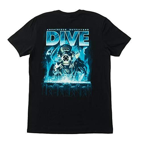 Amphibious Outfitters Deep Treasure Dive T-Shirt (Men's) Large Black