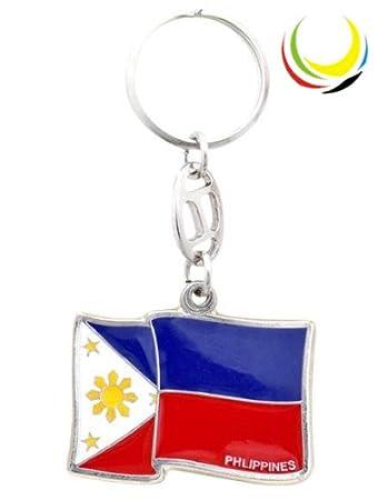 Amazon.com: Llavero – Bandera de Filipinas -: Office Products