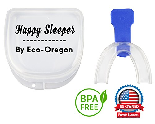 Happy Sleeper Night Mouth Guard - Sleep Aid Custom Mouthpiece BPA-FREE NON-TOXIC Best Bruxism Teeth Grinding Oral Pain Relief Solution (Mouthpiece Guard)