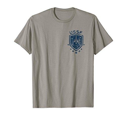 Forces Emblem (US SPACE FORCE Shuttle USA Distressed Chest Emblem TShirt)