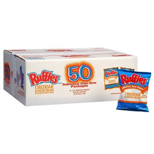 Ruffles Cheddar & Sour Cream - 50/1 oz. by Ruffles Cream Ruffle
