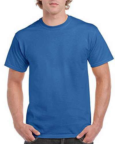 (Gildan Men's Ultra Cotton Tee, Royal,)