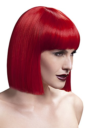 Fever Women's Blunt Cut Red Bob Wig with