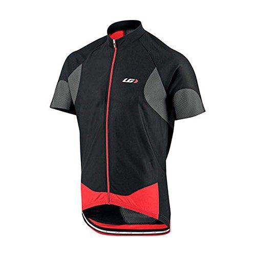 (Louis Garneau METZ Lite Cycling Jersey Black/Gray/Red-Small)