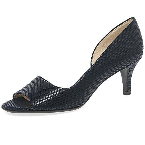 (Peter Kaiser Jamala II Womens Open Toe Court Shoes 6.5 C (M) UK/ 9 B(M) US Navy (Notte) Cube )