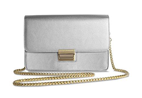 Para Metallic Katie Cartera Plateado Mano De Loxton Mujer Silver 6nI1Bn7R