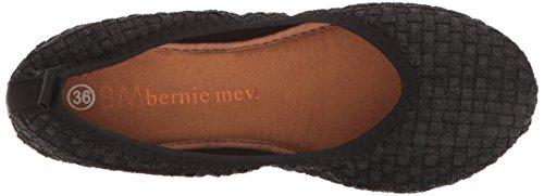 Bernie Mev Womens Curlies Plain Flat Zwart / Metallic