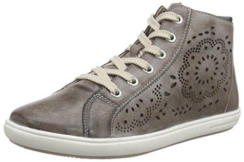 Rieker Kinder K3089, Mädchen Hohe Sneakers, Grau (cigar/25), 38 EU