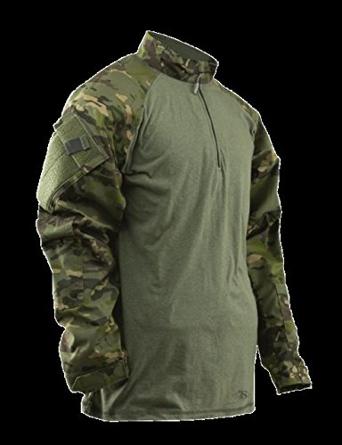 Tru-Spec Men's 1/4 Zip Combat Shirt, Multicam Tropic/Olive Drab, X-Small/Regular by Tru-Spec