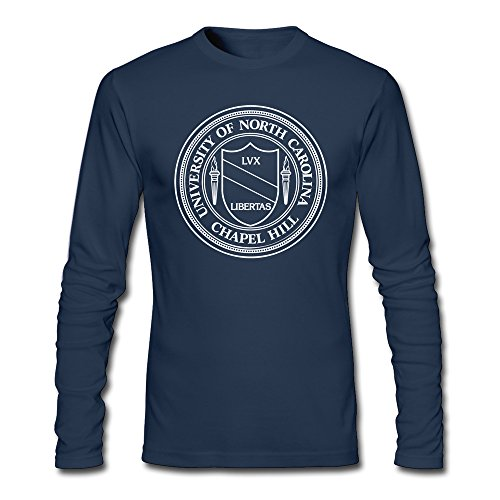 Men's University Of North Carolina At Chapel Hill Seal Long Sleeve T-Shirt Navy ()