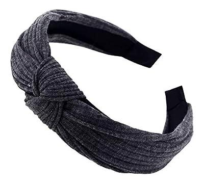 STHUAHE Pack of 3 Women Wide Stripes Cloth Cross Knot Hair Hoop Hairband Headband Hair Accessories
