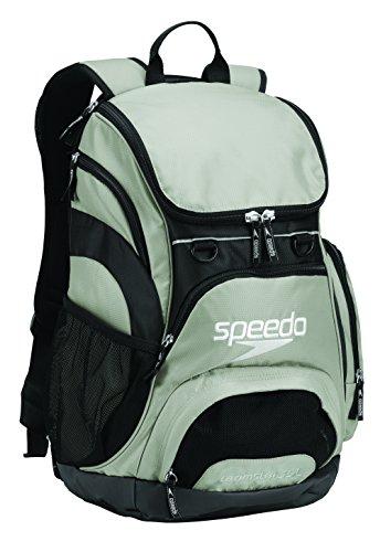Speedo Large Teamster Backpack, Light Grey/Black, 35-Liter