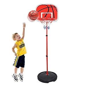 Batop 73-170CM Réglable Enfant Panier de Basket sur Pied avec Ballon et Pompe, Intérieur et Extérieur Panneau Basket… 6