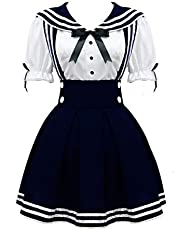 Cos StoreWomen's Navy Sailor School Girl Uniform Dress Japanese Anime Cosplay Costumes