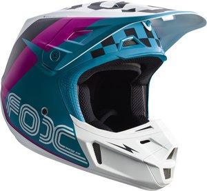 Teal Motorcycle Helmet - 9
