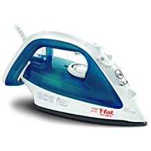 T-fal FV4017U0 Ultraglide Non-Stick and Scratch Resistant Durilium Ceramic Soleplate Steam Iron with Anti-Drip and Auto-off System, 1700W, Blue