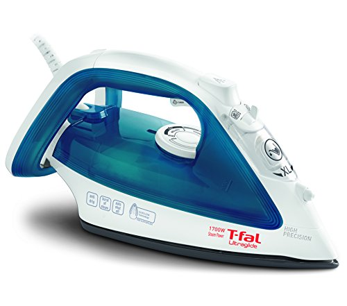T-fal Steam, Ceramic Flat Iron, Scratch Resistant, Anti-Drip and Auto-Off System, 1700 Watt, Blue