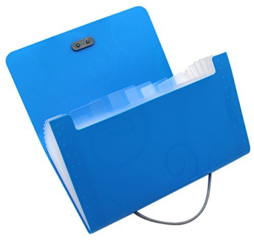 Aimeio Carpeta organizadora de archivos con 13 bolsillos, organizador de archivos acordianos con 12 índices de etiquetas de...