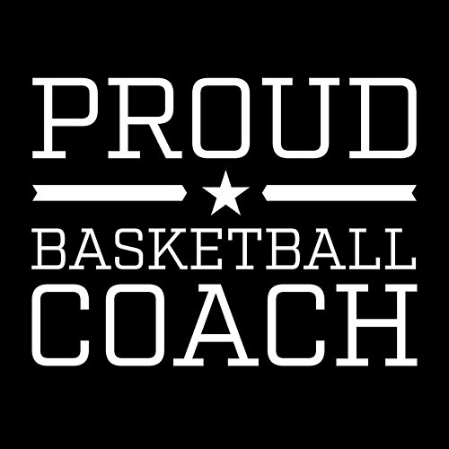 - Proud Basketball Coach Star Vinyl Decal Sticker   Cars Trucks Vans Windows Walls Cups Laptops   White   5 X 3.7 Inches   KCD2006