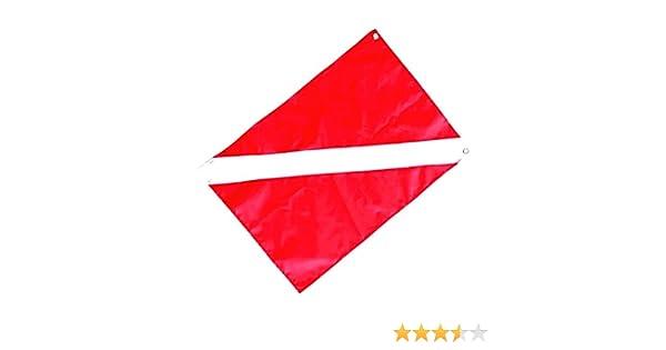 MagiDeal Buzo de Buceo Abajo Bandera Señal de Seguridad Marcador Bandera Barco Bandera de 50 X 35 Cm: Amazon.es: Deportes y aire libre